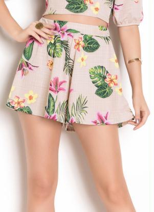 Shorts (Floral) Modelagem Ampla