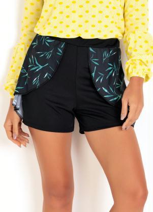 Shorts (Preto) com Babado