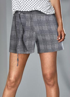 Shorts Xadrez Príncipe de Gales (Azul)