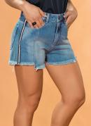 Short Boyfriend com Faixas Laterais Sawary Jeans