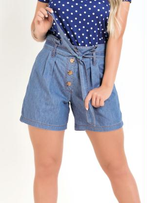 Short Clochard (Jeans) Leve com Amarração Sawary