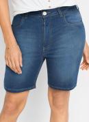 Short Jeans Básico Azul Médio
