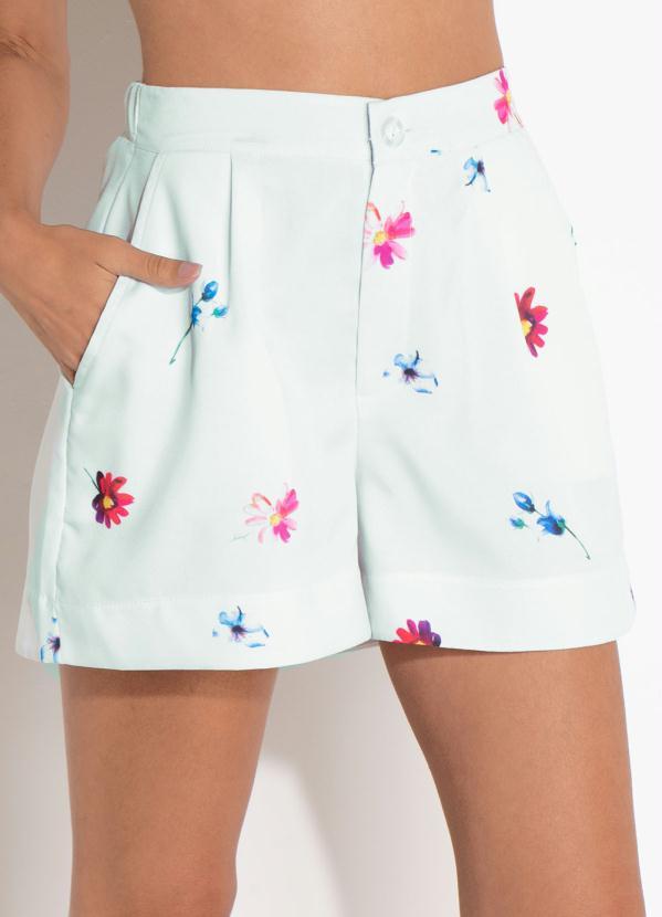 Short Quintess (Floral) com Cintura Média