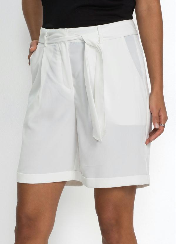 Short Alfaiataria com Amarração (Branco)