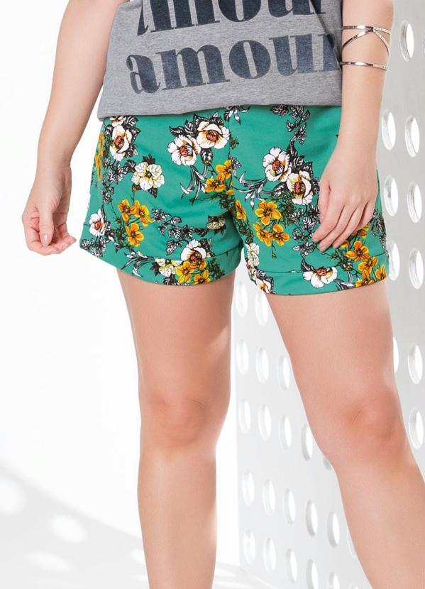 Shorts (Floral) com Elástico na Cintura