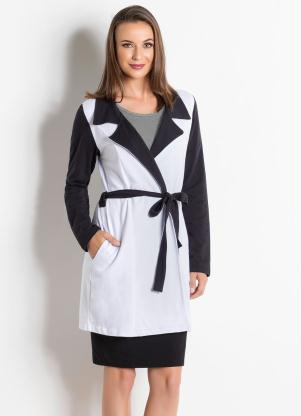 Sobretudo Bicolor (Preto e Branco) Moda Evangélica