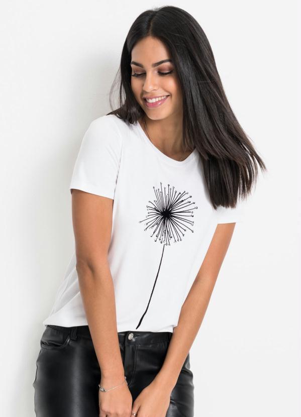 Blusa T-Shirt com Estampa (Branca)