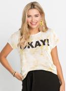 T-Shirt com Estampa Tie Dye Amarela