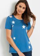 T-Shirt Estampa Estrelas Azul