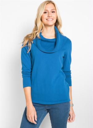 Suéter de Tricô (Azul Royal)