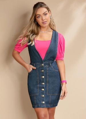 Salopete (Azul) Jeans com Bolsos Funcionais
