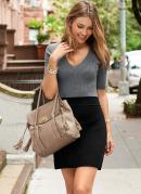 Vestido Bicolor Preto