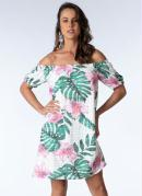 Vestido Ciganinha Clássico Tropical Floral