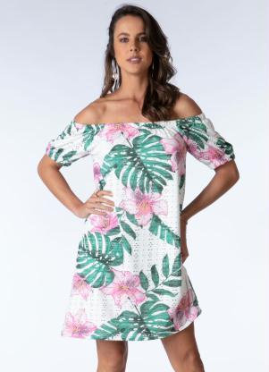 Vestido Ciganinha Clássico (Tropical Floral)