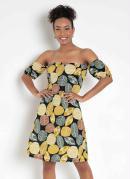 Vestido Ciganinha Folhas Color