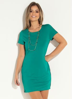 Vestido Clássico (Preto e Verde)
