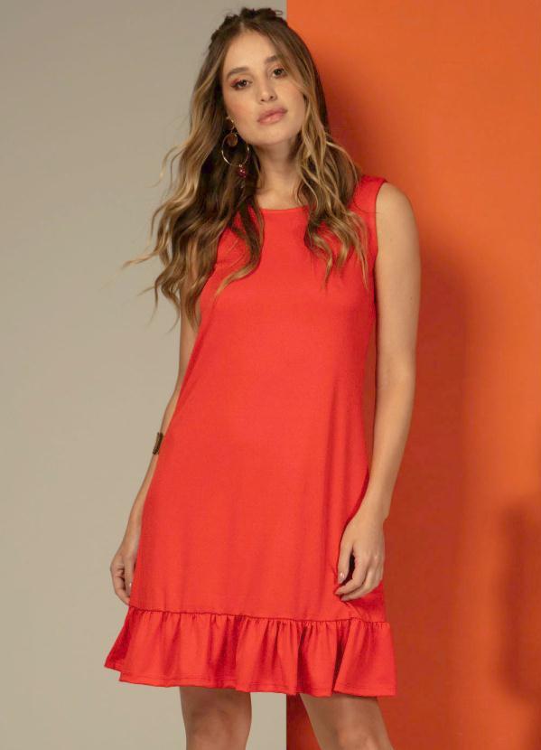 Vestido com Amarração nas Costas (Vermelho)