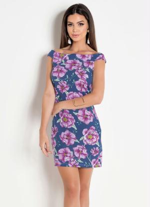 a8a454e4a Vestido Curto Floral sem Mangas - Quintess