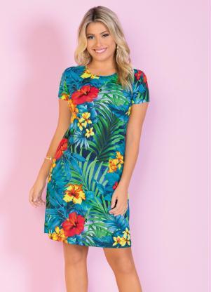 Vestido Evasê (Floral)