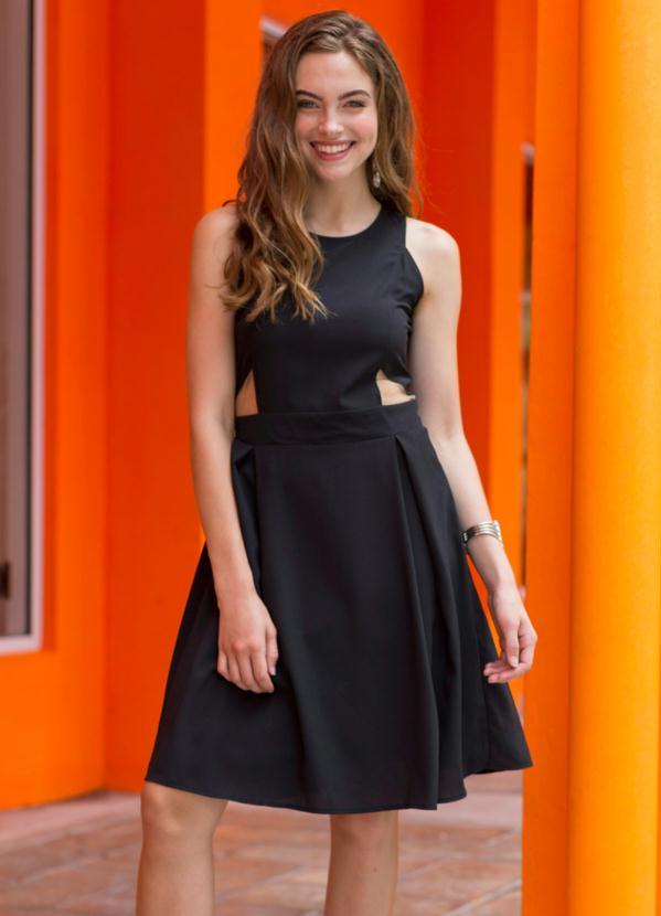 Vestido Evasê (Preto)
