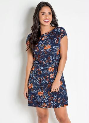 878e88d16 Vestido Floral com Elástico na Cintura - SouLojista