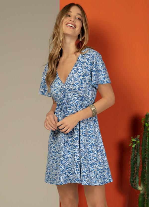 Vestido Molly (Floral Azul)