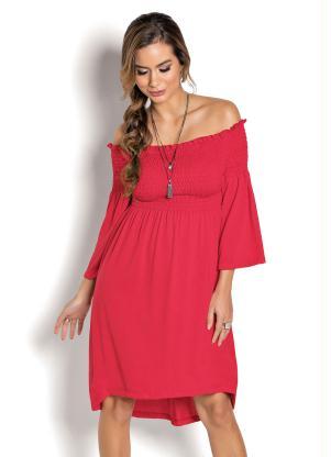 Vestido Mullet com Elástico (Vermelho)