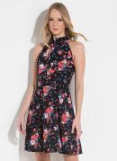Vestido Quintess Clássico Floral com Elástico