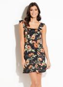 Vestido Quintess em Malha Crepe Floral