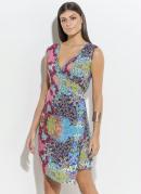 Vestido Quintess Floral com Transpasse