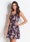 Vestido Quintess Rodado Floral Dark