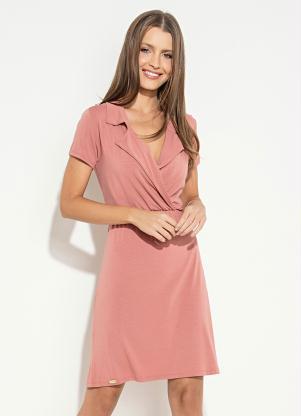Vestido Quintess (Rosê) com Gola