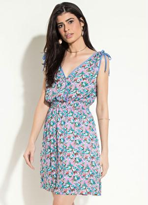 Vestido Quintess Transpassado (Floral)