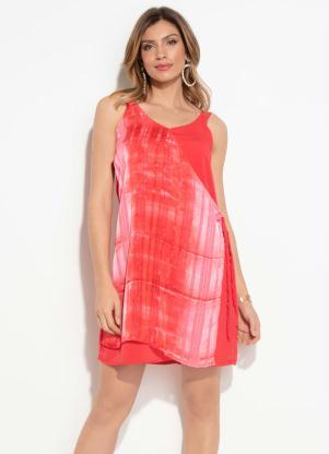 Vestido Quintess (Vermelho) Transpasse e Degradê