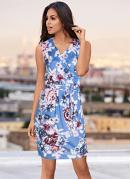 Vestido Floral Estampado Azul