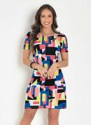 Vestido Soltinho Geométrico