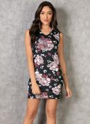 Vestido Tubinho Floral Dark