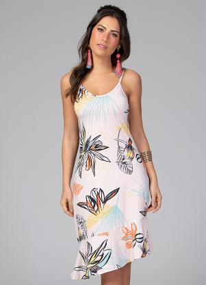 Vestido Clássico (Floral) com Alças Regulaveis