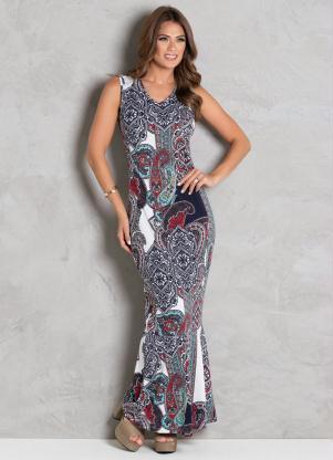 e162b60303 Vestido Longo Arabescos Moda Evngélica - SouLojista