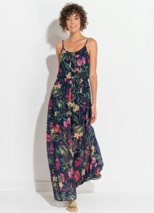 Vestido formal tropical