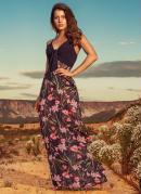 Vestido Quintess Floral Dark com Hot Pant