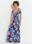 VESTIDO QUINTESS (FLORAL) TRANSPASSE NO DECOTE