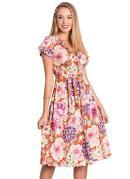 Vestido Camponesa Floral Moda Evangélica