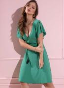 Vestido Clássico Transpassado Verde