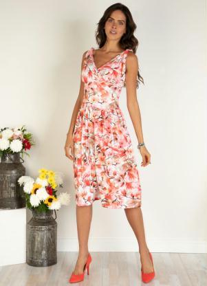 Vestido de Alça (Floral Vermelho)