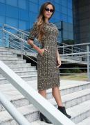 Vestido Estampa Letter com Bolso Moda Evangélica