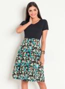 Vestido Estampa Tropical Moda Evangélica