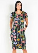 Vestido Floral com Bolso Moda Evangélica