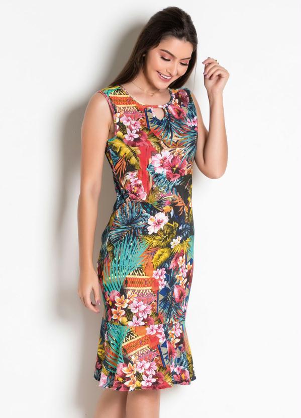 Vestido Moda Evangélica com Gota (Tropical)