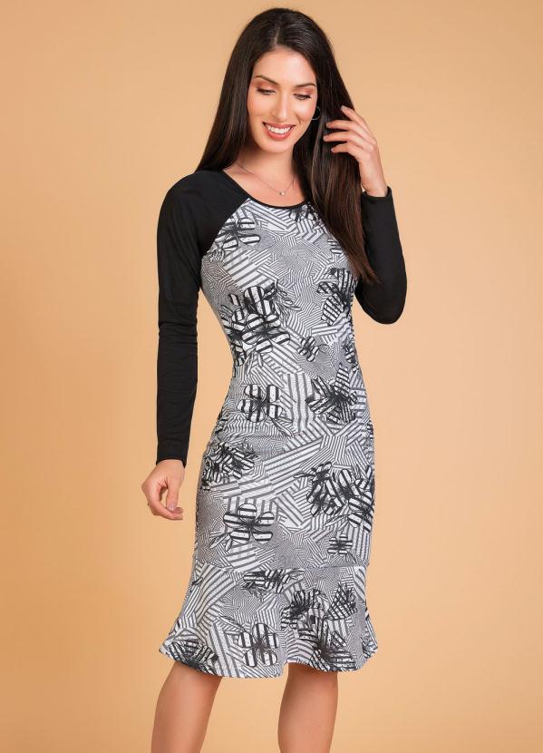 Vestido Tubinho (Floral) Moda Evangélica